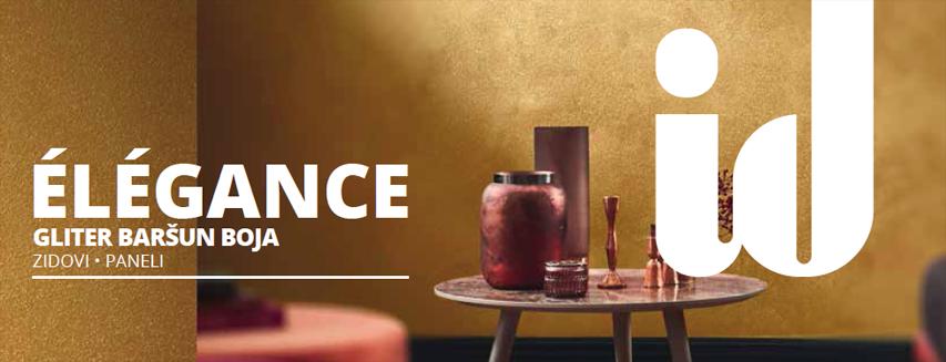 Elegance gliter baršunasta boja za dekorativno uređenje interi