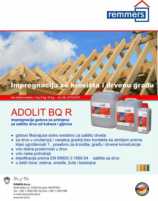 Premazivanje drvene građe s adolit BQ R Remmers