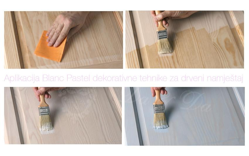 Aplikacija pastelne dekorativne tehnike
