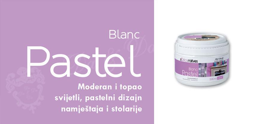 Blanc pastel pastelni izgled namještaja