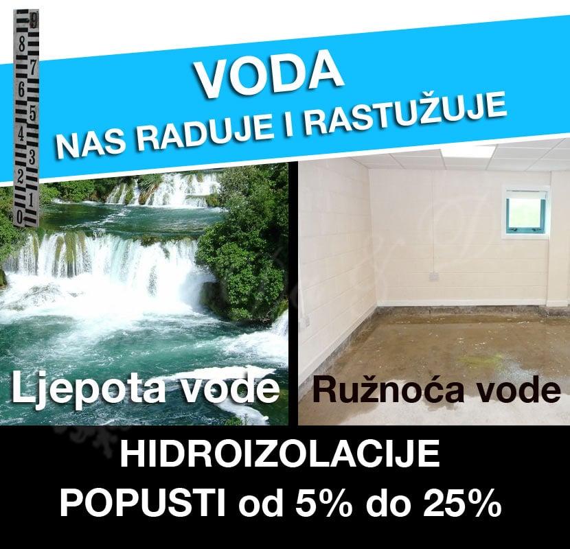 Ljepota i ružnoća vode - hidroizolacije u Da-Da trgovini