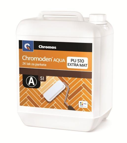 Chromoden AQUA PU 510 extra mat 2k lak za parkete