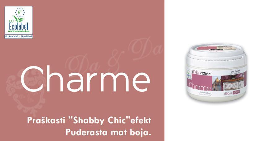 Praškasti Shabby Chic efekt Charme