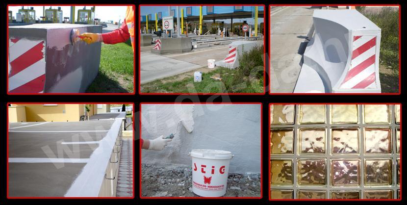STIGOFLEX zaštita betona i AB konstrukcija foto upute