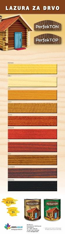 TON KARTA -debeloslojna lazura za drvo - odlična cijena